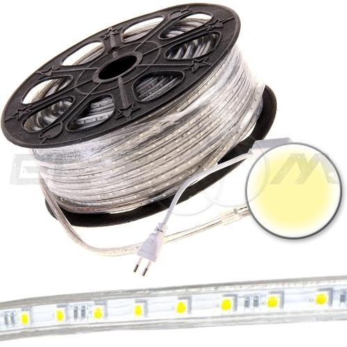 Светодиодная лента SMD 5050 IP68, 220В 14,4Вт/м L60 белый (теплый)