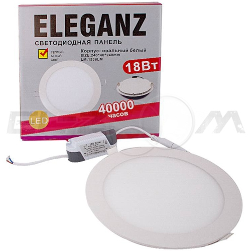 Светодиодная панель круглая Eleganz 18Вт 230В 3000К 1440Лм IP33