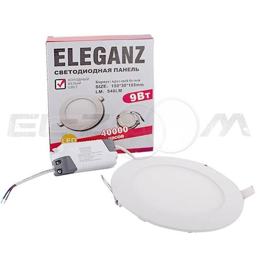 Светодиодная панель круглая Eleganz 9Вт 230В 3000К 720Лм IP33