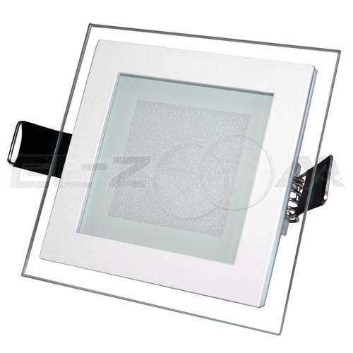 """Светодиодная панель квадратная """"Стекло"""" Siesta Light 6Вт 230В 3000К 400Лм IP22"""
