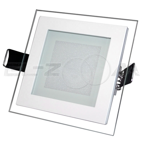 """Светодиодная панель квадратная """"Стекло"""" Siesta Light 6Вт 230В 6000К 400Лм IP22"""