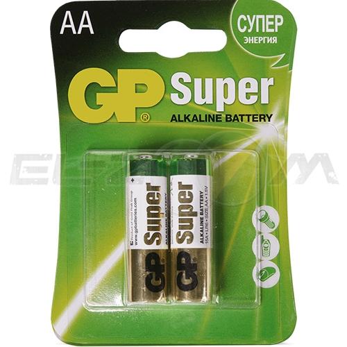 "Набор алкалиновых батареек GP Batteries ""Super Alkaline"", тип АА, 2 шт"