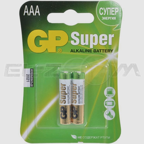 "Набор алкалиновых батареек GP Batteries ""Super Alkaline"", тип AАА, 2 шт"