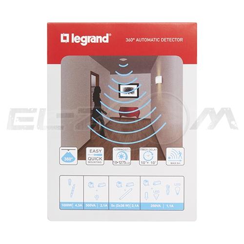 Датчик движения потолочный Legrand ИК 360° 1000Вт IP41