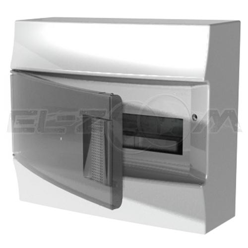 Бокс ABB Mistral41 навесной 12М с прозрачной дверцей, белый