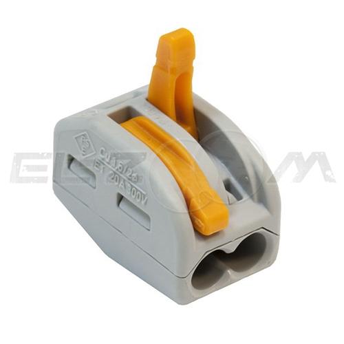 Клемма соединительная универсальная 2 контакта WAGO 222-412 0.8-2.5 кв.мм. 32А