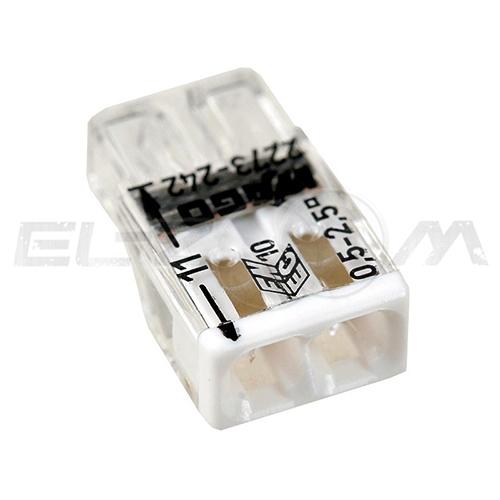 Клемма соединительная компактная 2 контакта WAGO 2273-242 0.5-2.5 кв.мм. 24А