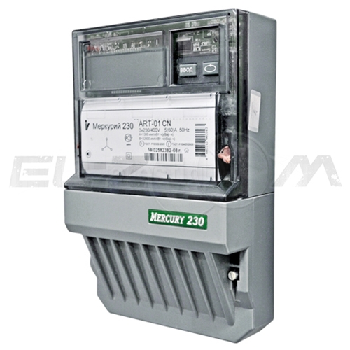 Счетчик 4 тарифа электрический Меркурий 230ART-01 C(R)N 400В 5(60) с ЖК-индикатором