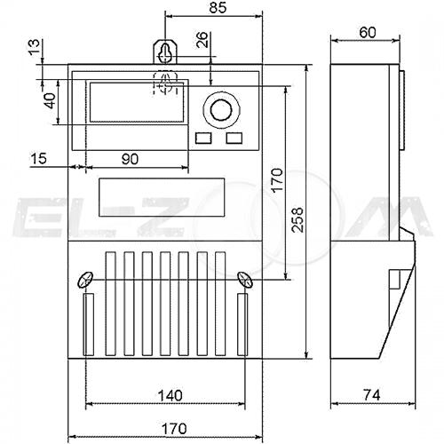 Счетчик однотарифный электрический Меркурий 230АМ-02 400В 10(100) с отчетным устройством