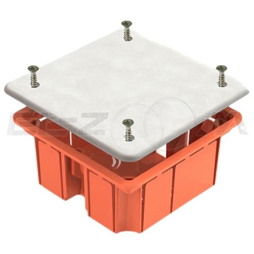Распаячная коробка 92х92х45мм Greenel IP20 для бетонных и кирпичных стен