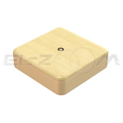 """Распаячная коробка 75x75x20мм Greenel IP40 наружного монтажа текстура """"Сосна"""""""