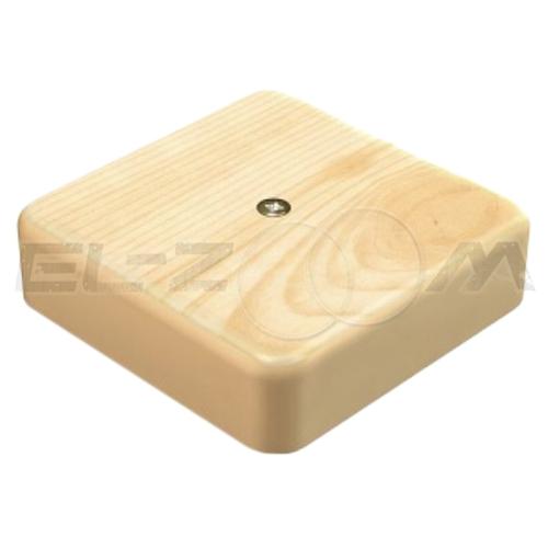 """Распаячная коробка 100x100x29мм Greenel IP40 наружного монтажа текстура """"Сосна"""""""