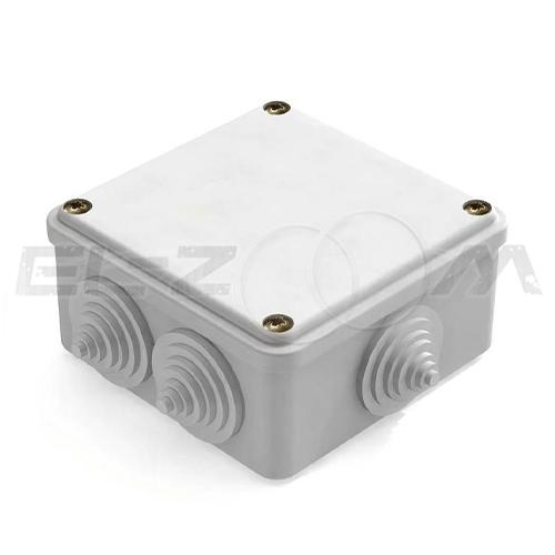 Распаячная коробка 100x100x50мм Промрукав IP55 наружного монтажа серая