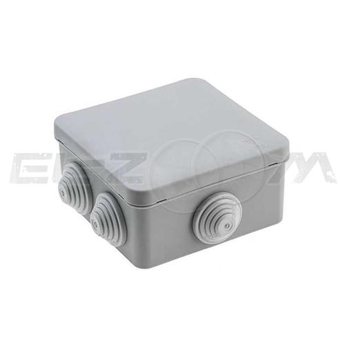 Распаячная коробка 70x70x40мм Greenel IP55 наружного монтажа серая