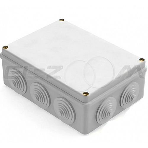Распаячная коробка 240x195x90мм Greenel IP55 наружного монтажа серая