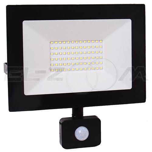 Светодиодный прожектор с датчиком движения EAEC 50Вт IP65 4000Лм
