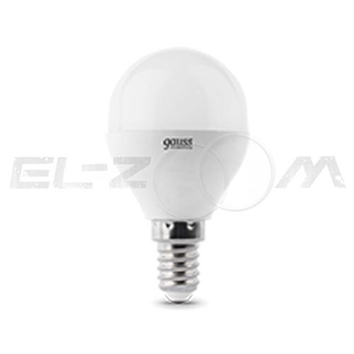 Лампа светодиодная ШАР Gauss 6Вт 2700K E14 220В матовое стекло