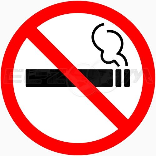"""Наклейка """"Курение запрещено"""" 200x200мм"""