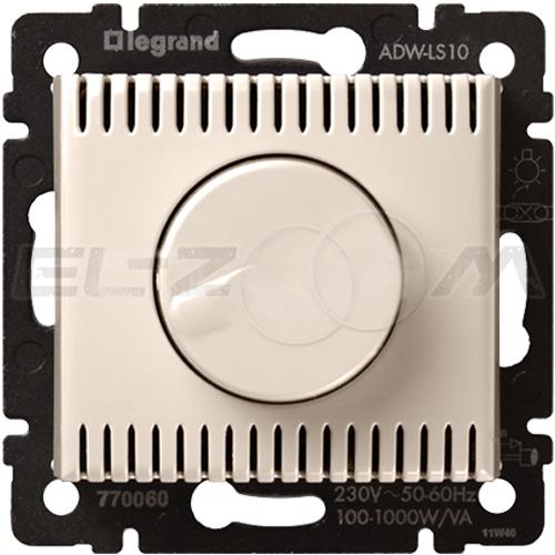 Светорегулятор поворотно-нажимной 1000W Legrand Valena крем