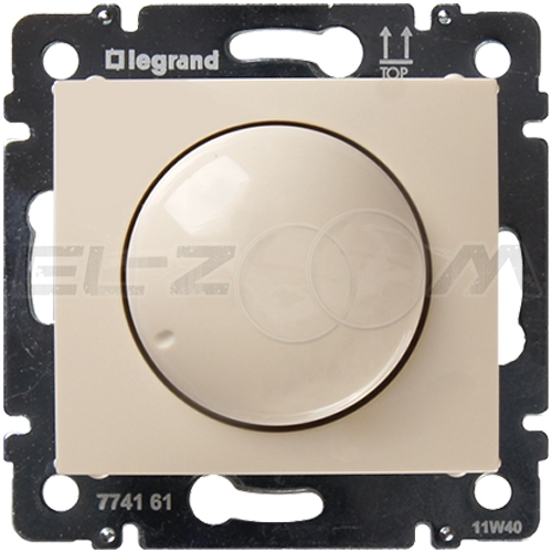 Светорегулятор проходной поворотный 400W Legrand Valena крем