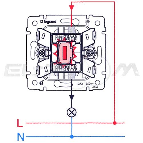 Выключатель 1-клавишный Legrand Valena белый 10АX