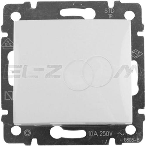 Выключатель 1-клавишный проходной Legrand Valena белый 10АX