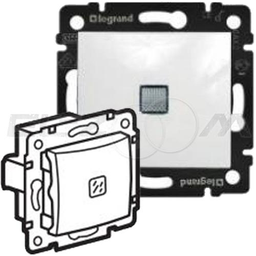 Выключатель 1-клавишный с подсветкой проходной Legrand Valena белый 10АX