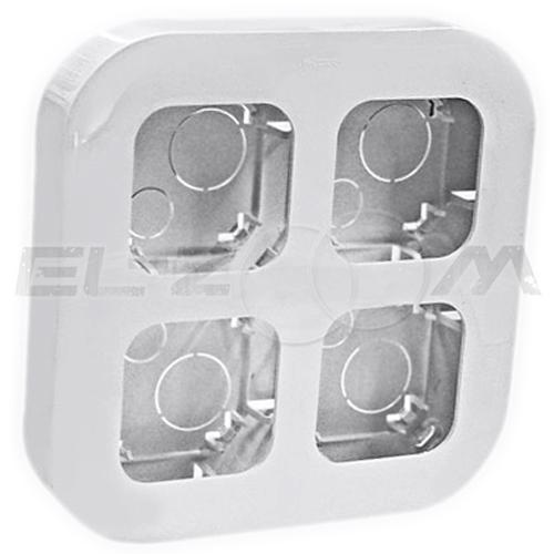 Блок (рамка) установочный на 4 поста Legrand Quteo белый