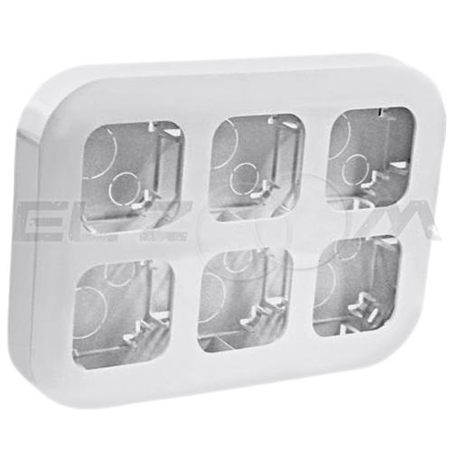 Блок (рамка) установочный на 6 постов Legrand Quteo белый