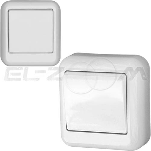 Выключатель 1-клавишный Schneider electric Прима белый 6А