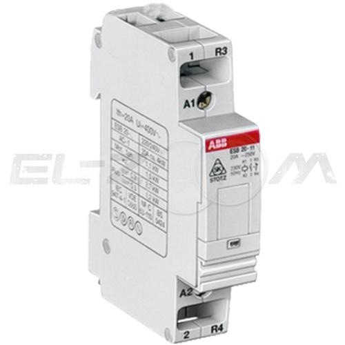 Контактор модульный ABB ESB20-11N-06 20А (н.з.+н.о.) катушка 220В AC