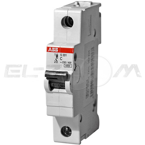 Автоматический выключатель ABB S201 1п C20 6кА