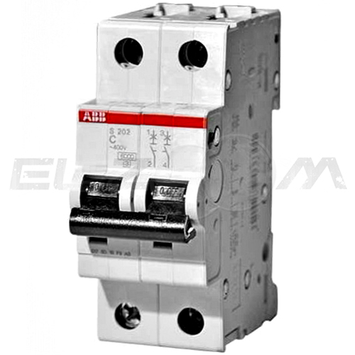 Автоматический выключатель ABB S202 2п C20 6кА