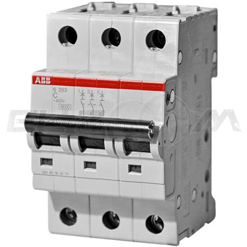 Автоматический выключатель ABB S203 3п C10 6кА