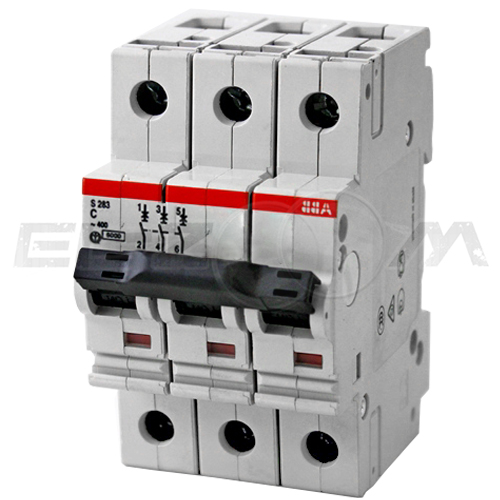 Автоматический выключатель ABB S283 3п C80 6кА