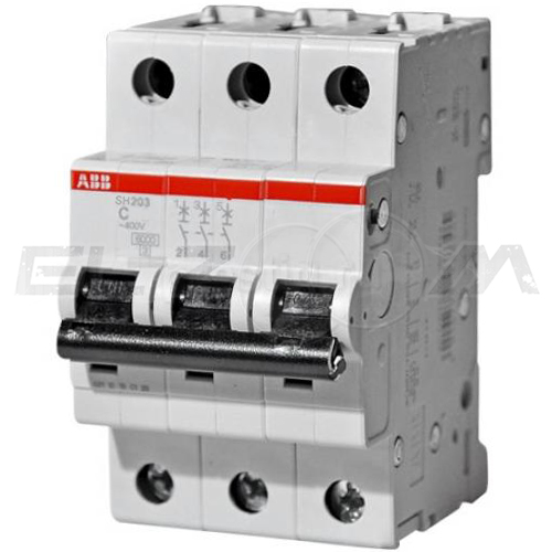 Автоматический выключатель ABB SH203L 3п C10 4,5кА
