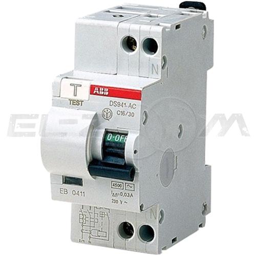 Дифференциальный автомат ABB DS941 2п C10 30мА AC