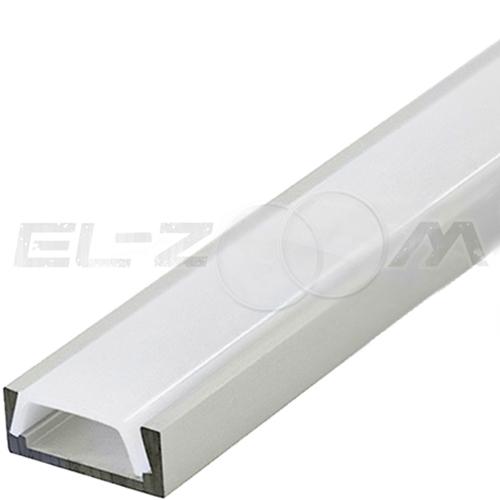 Плоский алюминиевый профиль для светодиодной ленты с рассеивателем