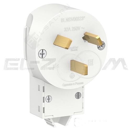 Вилка силовая 2К+З для эл. плиты Schneider electric Blanca 220В 32А