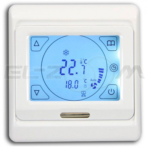 Терморегулятор электронный программируемый сенсорный для теплого пола E91.716 белый