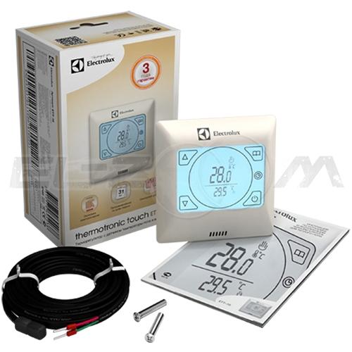 Терморегулятор электронный программируемый для теплого пола Electrolux ETT-16 сенсорный