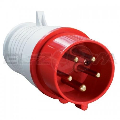 Вилка силовая кабельная 3к+Н+З 16А IP44 IEK ССИ-015