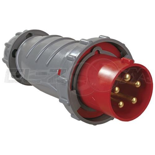 Вилка силовая кабельная 3к+Н+З 63А IP44 IEK MAGNUM ССИ-035