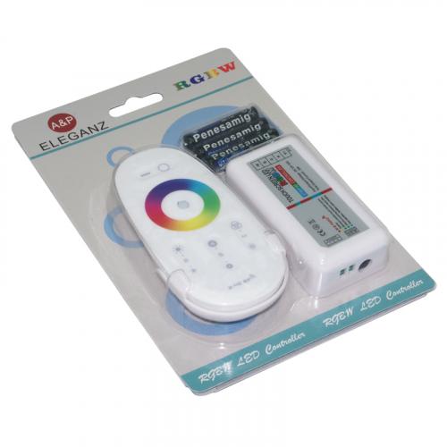 Контроллер сенсорный RGB+W 12В 6A/CH, 288Вт, IP20 для светодиодных лент