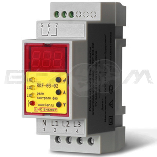 Реле контроля фаз Line Energy RKF-03-02 16А 380В