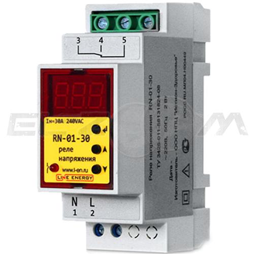 Реле напряжения Line Energy RN-01-30 30А 220В AC