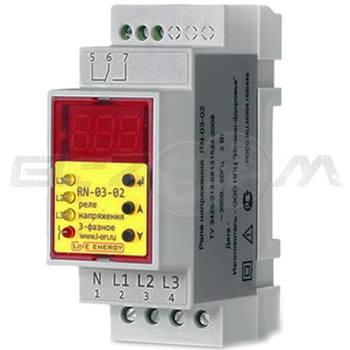 Реле напряжения Line Energy RN-03-02 16А 380В