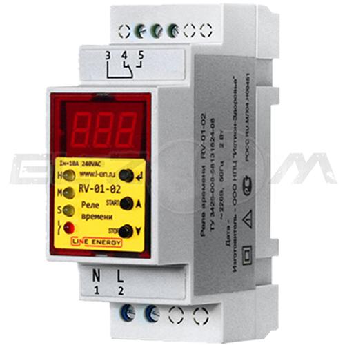 Реле времени Line Energy RV-01-02 16A 220В AC