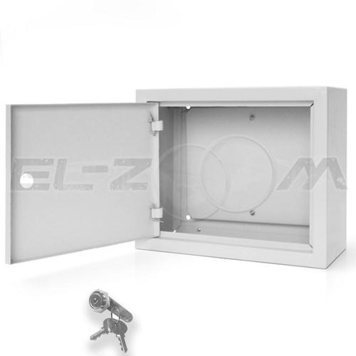 Щит с монтажной панелью ЩМП-02 металл. навесной, серый