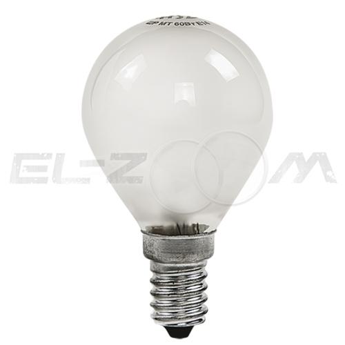 Лампа накаливания ШАР ASD P45 40Вт E14 матовая